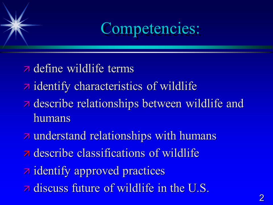 3 Terms to Know  Wildlife  Habitat  Vertebrate  Predators  Prey  Parasitism