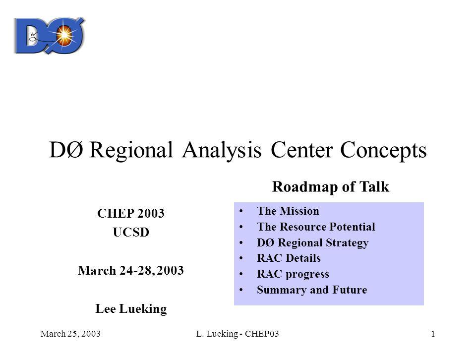 March 25, 2003L.