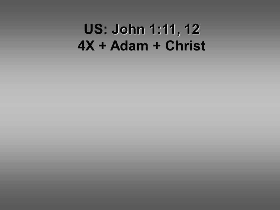 John 1:11, 12 US: John 1:11, 12 4X + Adam + Christ