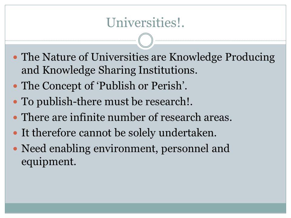 Universities!.