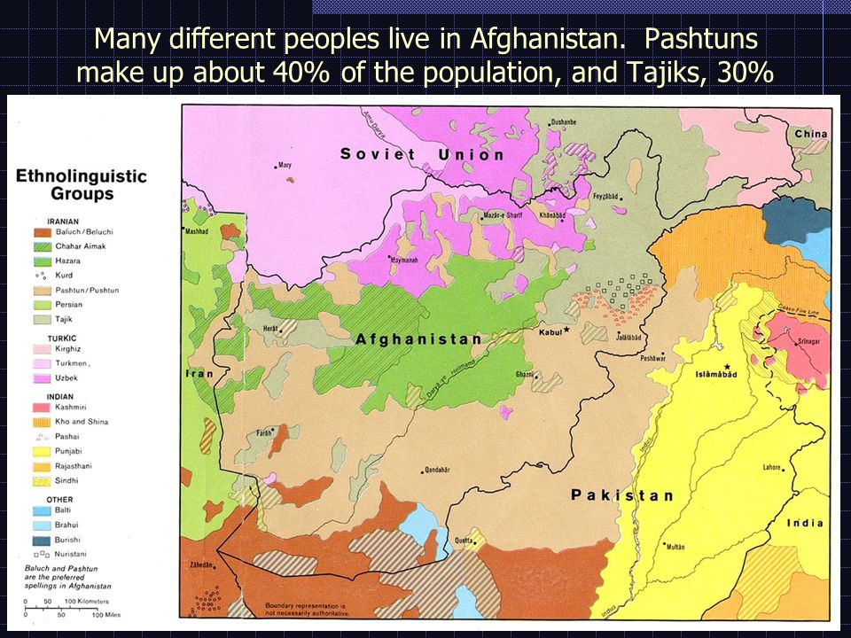Many different peoples live in Afghanistan.