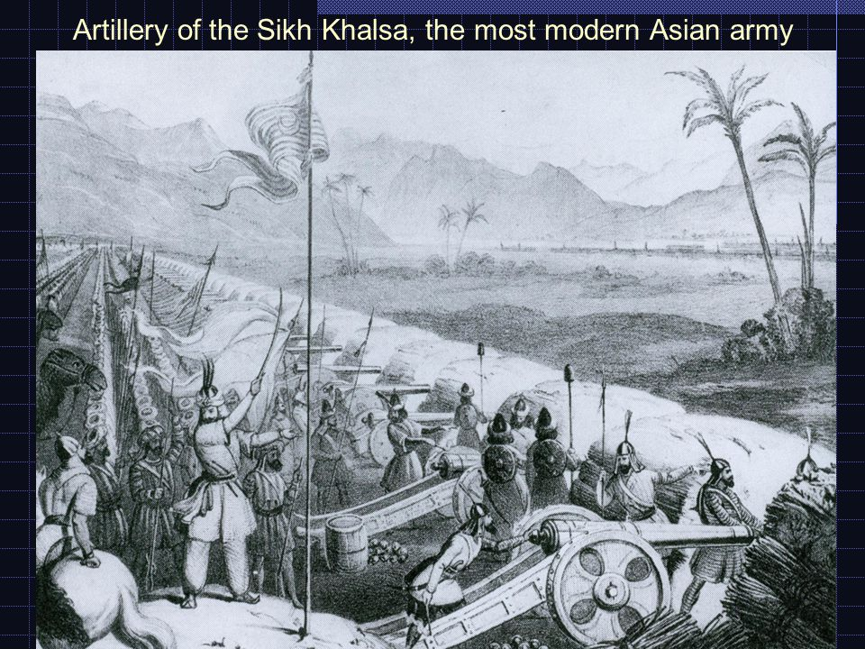 Artillery of the Sikh Khalsa, the most modern Asian army