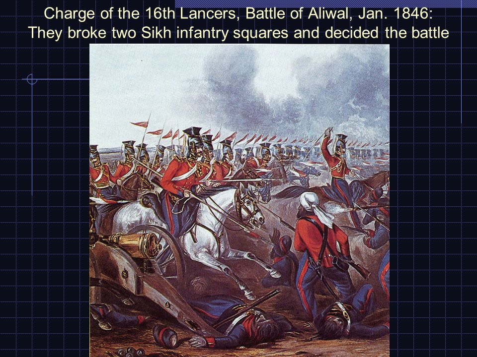 Charge of the 16th Lancers, Battle of Aliwal, Jan.