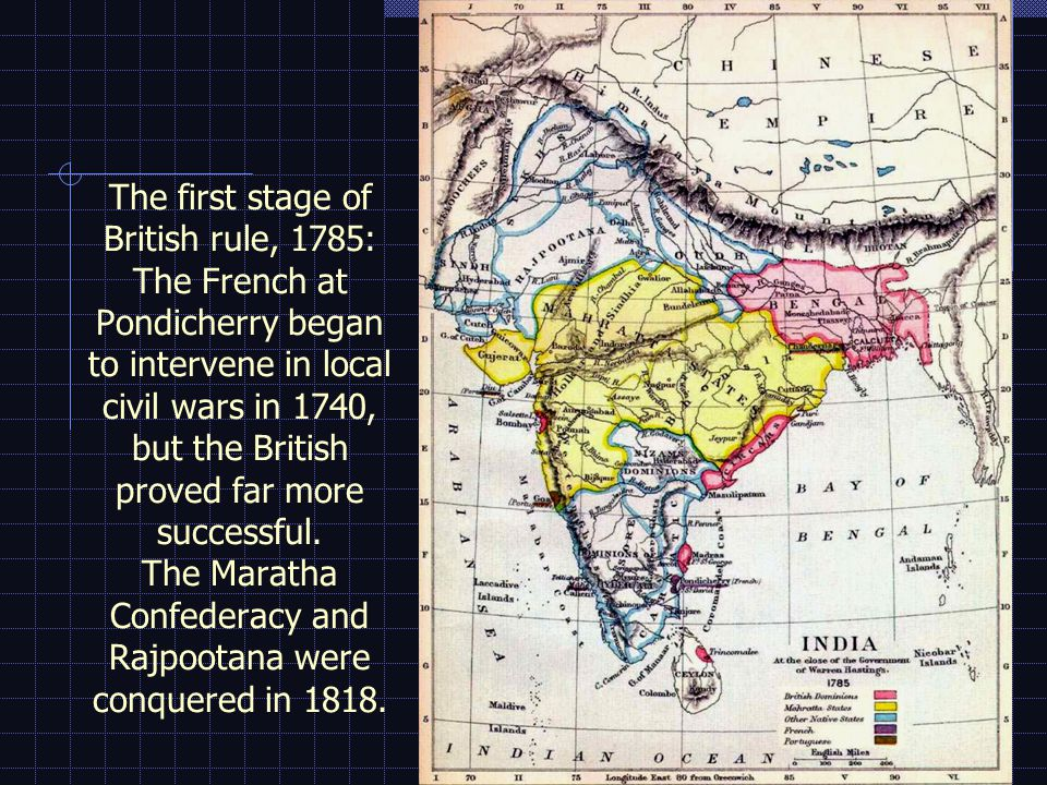 THE GREAT MUTINY, 1857/58 (or Sepoy Rebellion, or War of National Independence) March 29, 1857 Mangal Pande of the 34 th Bengal NI vows to shoot the first white man he sees May 10 Rebellion in Meerut and massacre of European women and children; rebels withdraw to Delhi June/July Nana Sahib massacres the defenders of Cawnpore plus 125 women & children September British troops capture Delhi and arrest Bahadur Shah March 1858Sir Colin Campbell takes Lucknow March 1859Tanti Topi, the last rebel general, is hanged