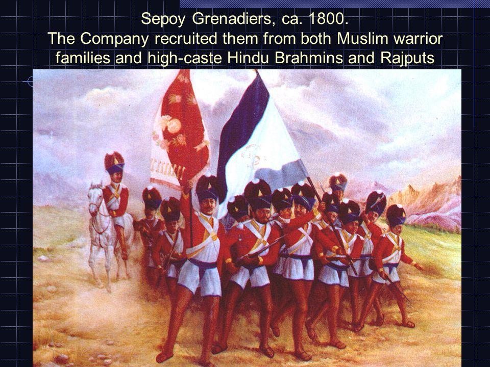 Sepoy Grenadiers, ca. 1800.