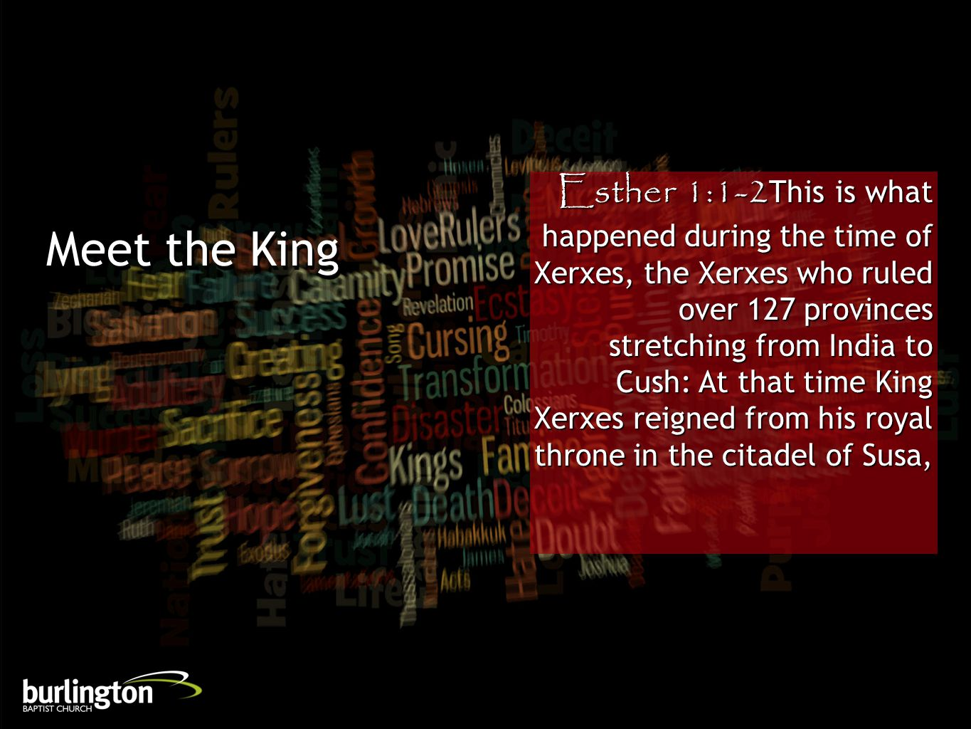 Esther 1:12But when the attendants delivered the king s command, Queen Vashti refused to come.