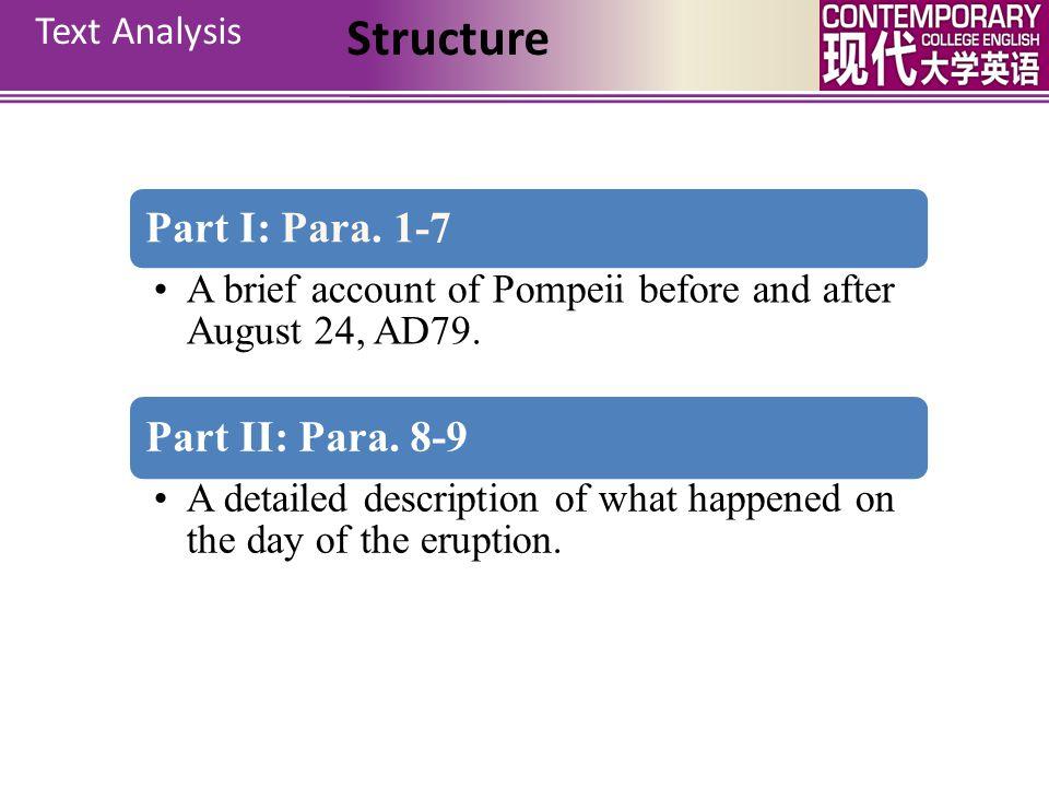 Detailed Analysis Structure Text Analysis Pompeii Unit 10