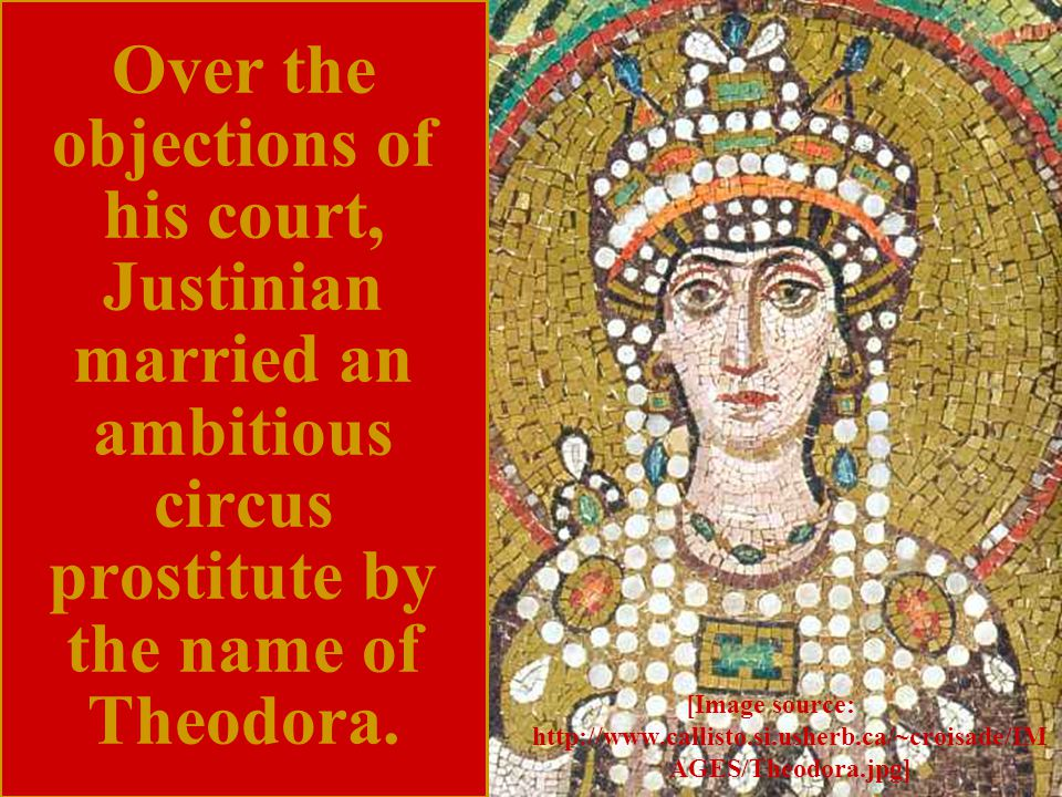 When Empress Theodora refused to evacuate the capital, Emperor Justinian I decided to remain and fight the rebels.