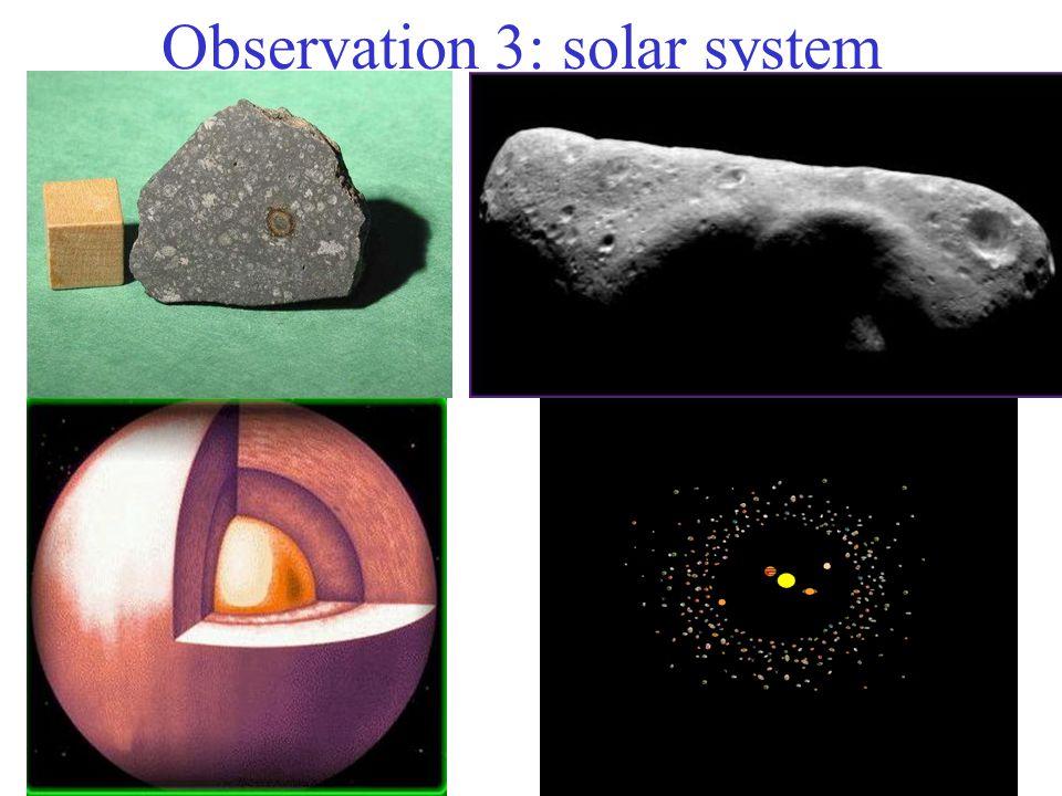 Observation 3: solar system