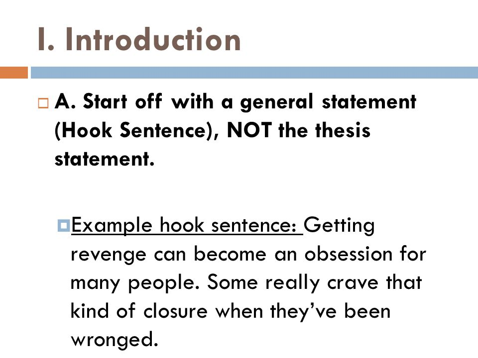 III.Conclusion Paragraph  B.
