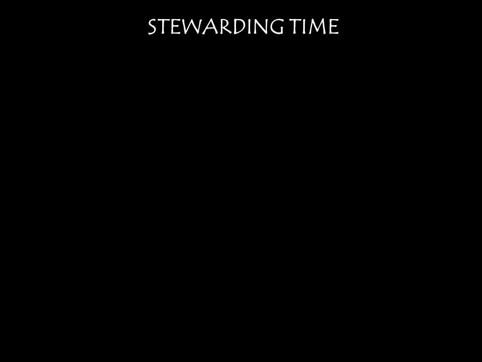 STEWARDING TIME Acts 17:24 The God who made the world and everything in it, being Lord of heaven and earth, does not live in temples made by man, 25 nor is he served by human hands, as though he needed anything, since he himself gives to all mankind life and breath and everything.