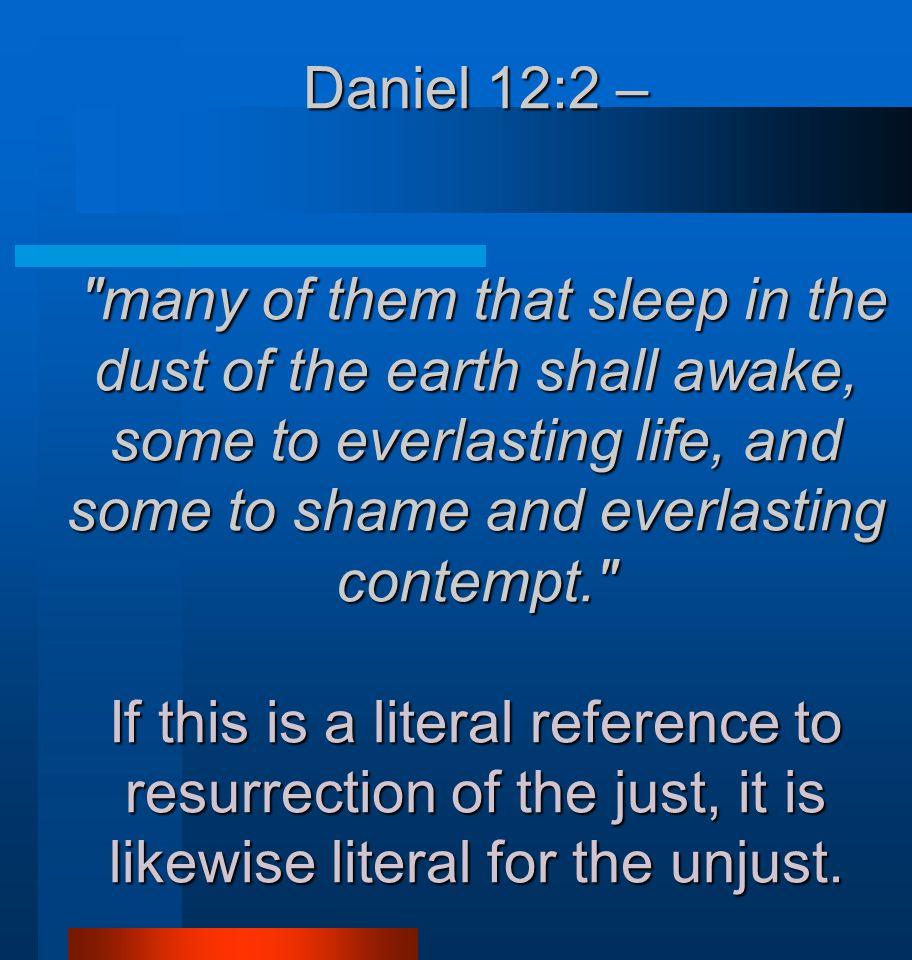 Daniel 12:2 –