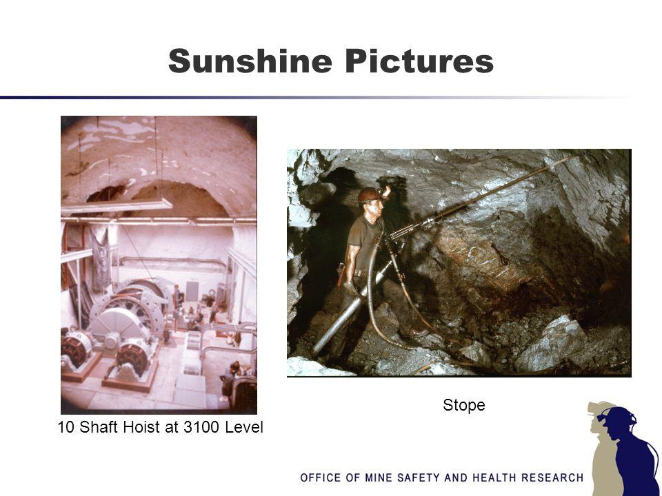 Sunshine Pictures 10 Shaft Hoist at 3100 Level Stope