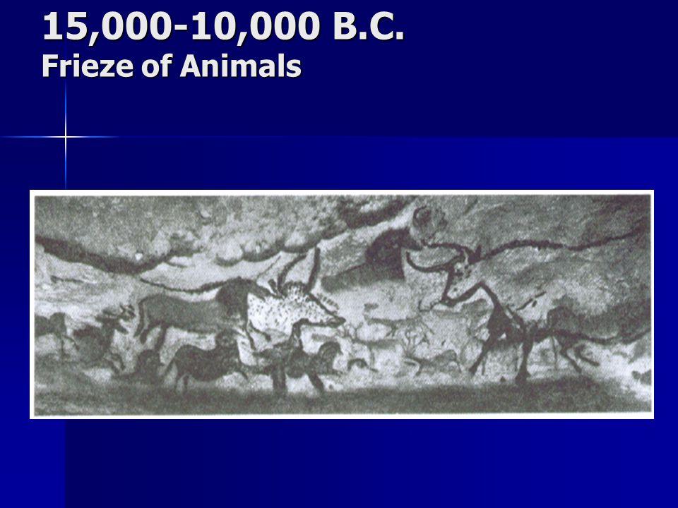 15,000-10,000 B.C. Frieze of Animals