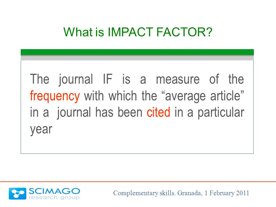 What is IMPACT FACTOR.