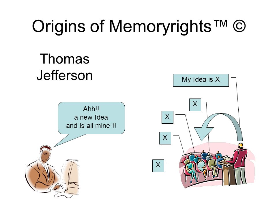 Origins of Memoryrights™ © and the receiver cannot dispossess himself of it….