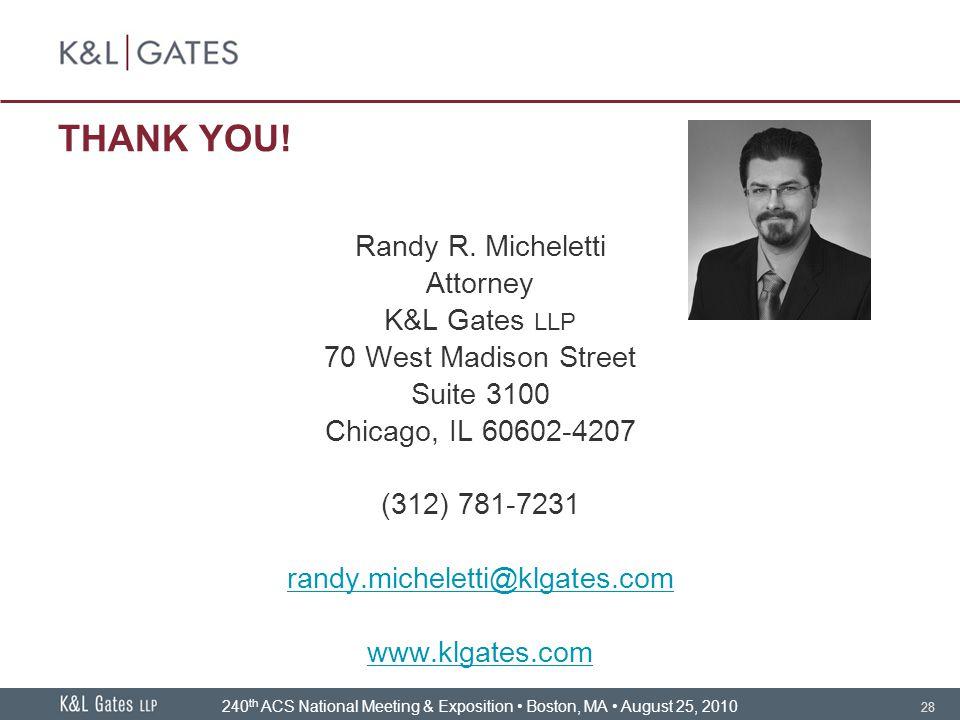 28 THANK YOU.Randy R.