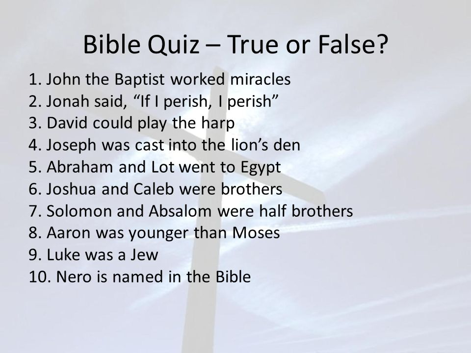 Bible Quiz – Which Was Which.1. Which was a leper-Nathan or Naaman.