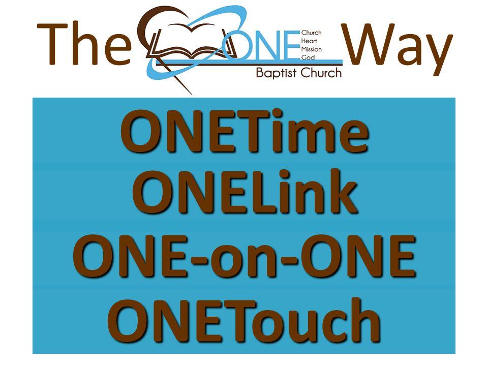 ONETime WayTheONELink ONE-on-ONE ONETouch
