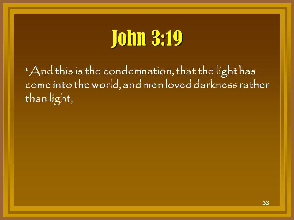 33 John 3:19