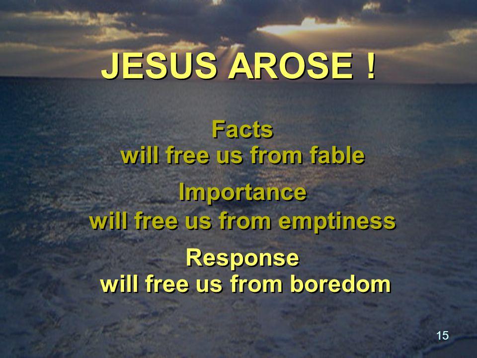 15 JESUS AROSE .