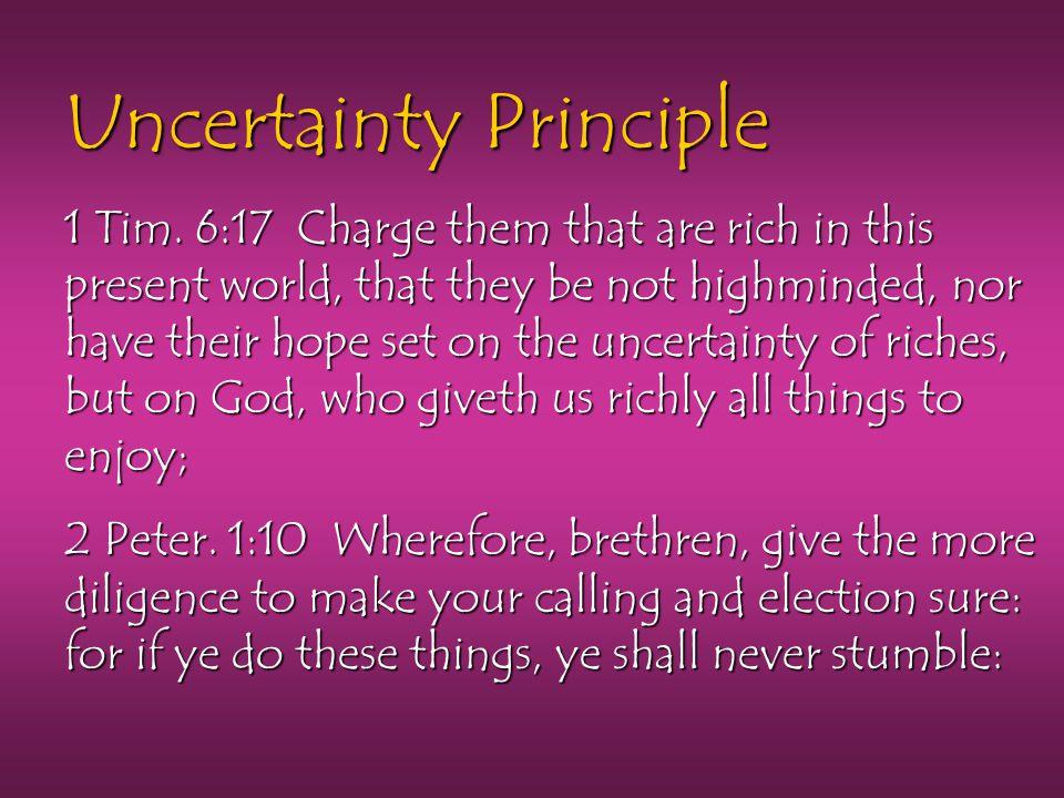 Uncertainty Principle 1 Tim.