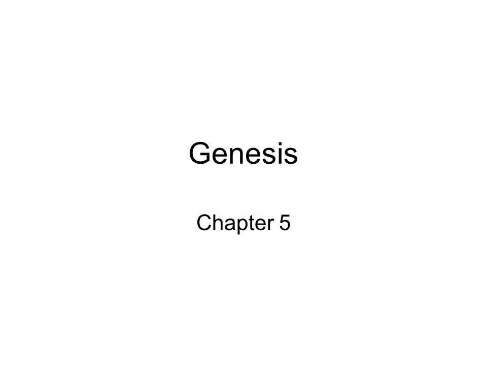 Genesis Chapter 5