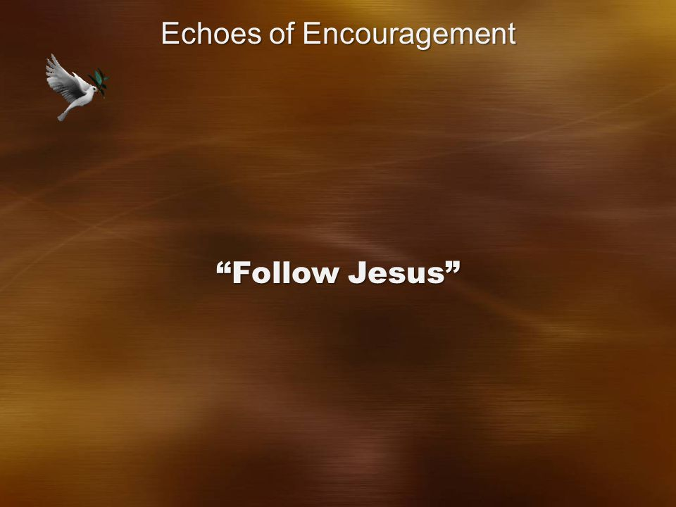 Follow Jesus Echoes of Encouragement