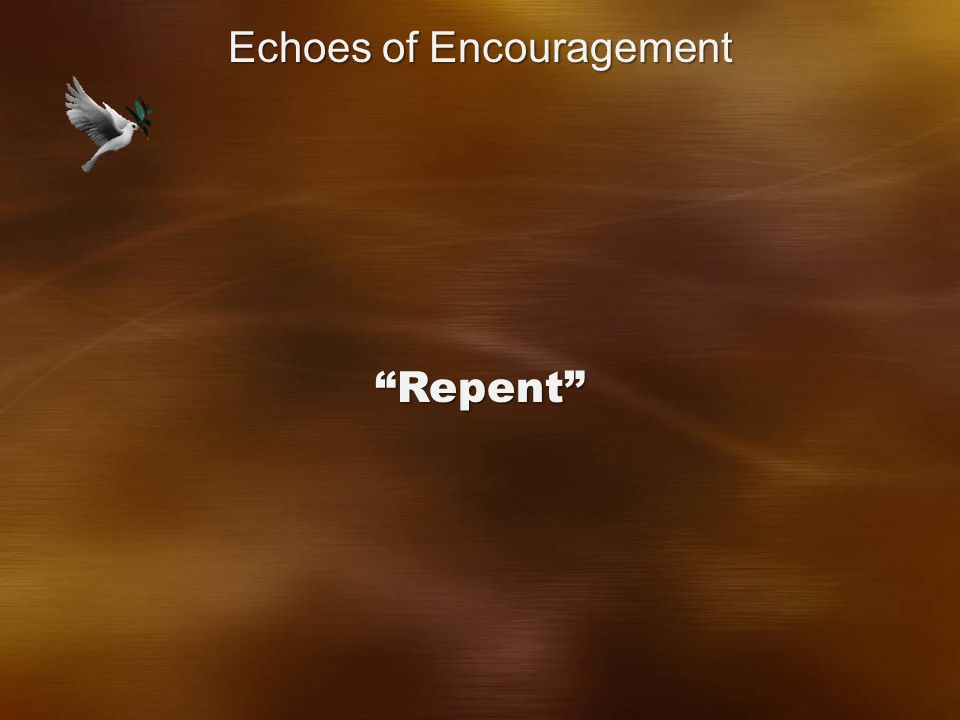 Repent Echoes of Encouragement