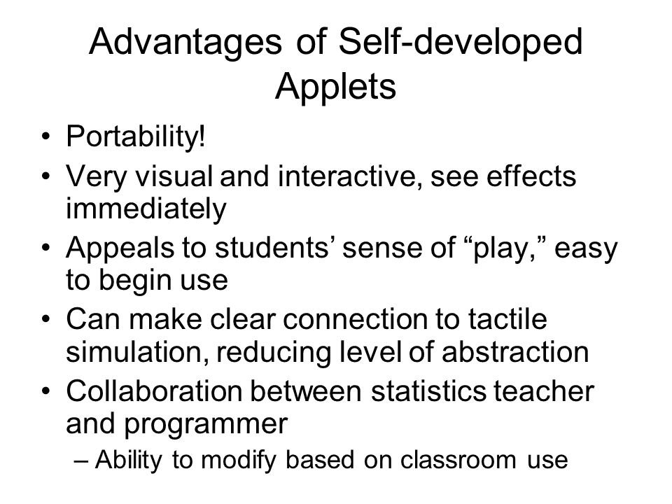 Advantages of Self-developed Applets Portability.