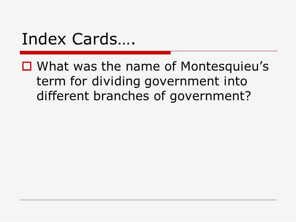 Index Cards….