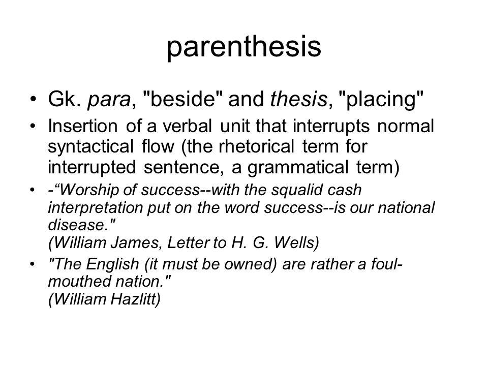 parenthesis Gk.