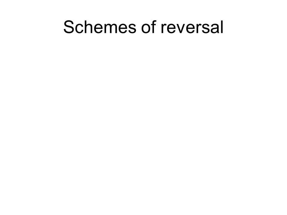 Schemes of reversal