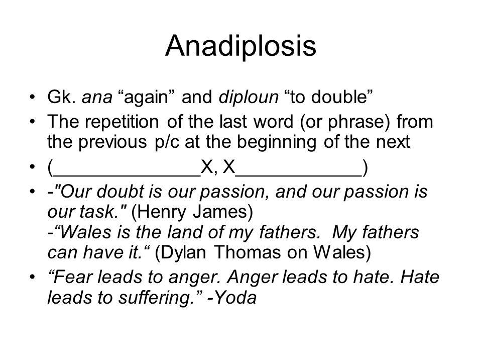 Anadiplosis Gk.