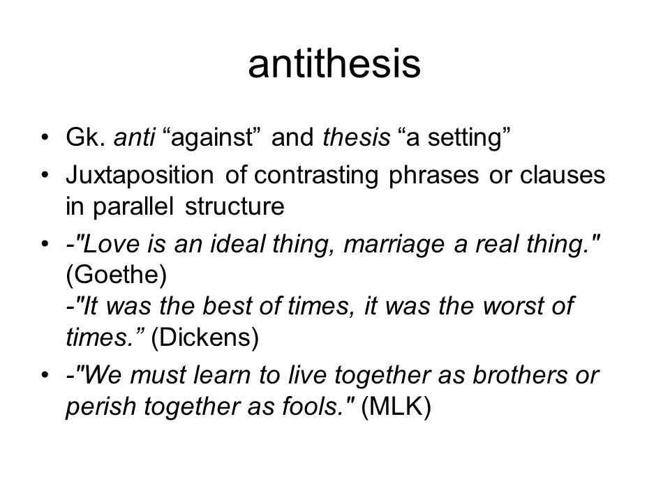 antithesis Gk.