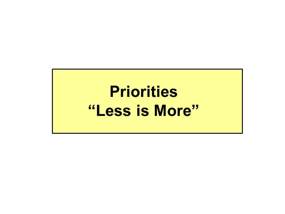 Priorities Less is More
