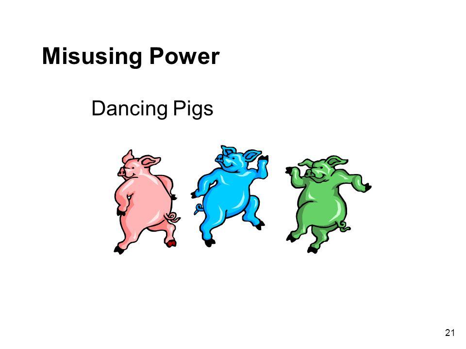 Misusing Power Dancing Pigs 21