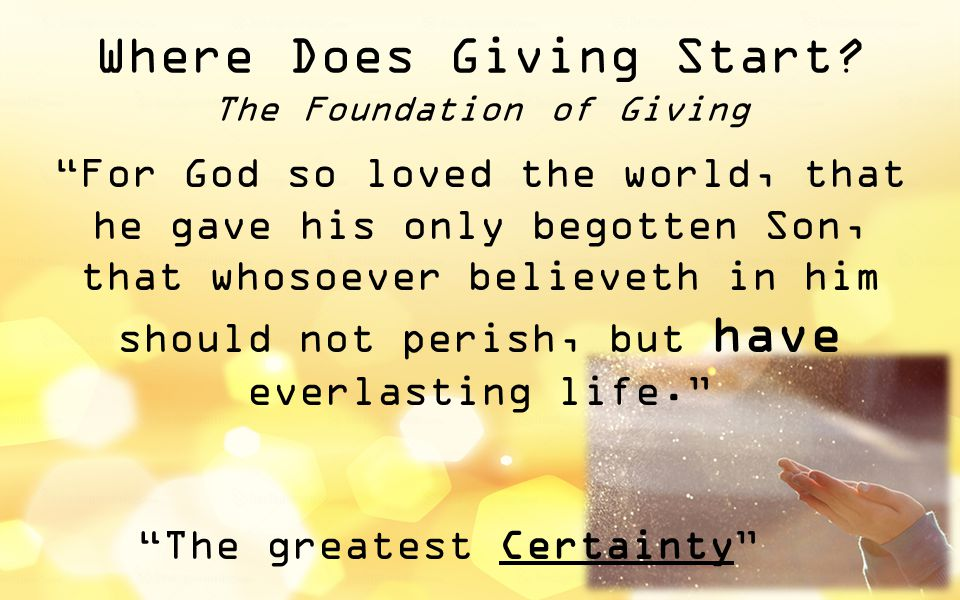 Where Does Giving Start.
