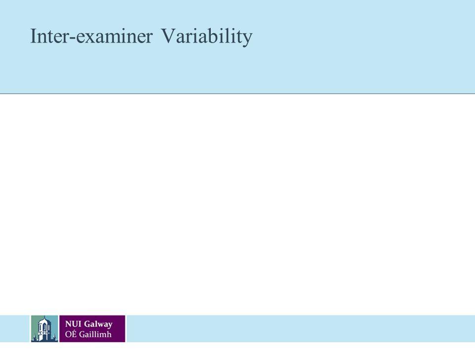 Inter-examiner Variability