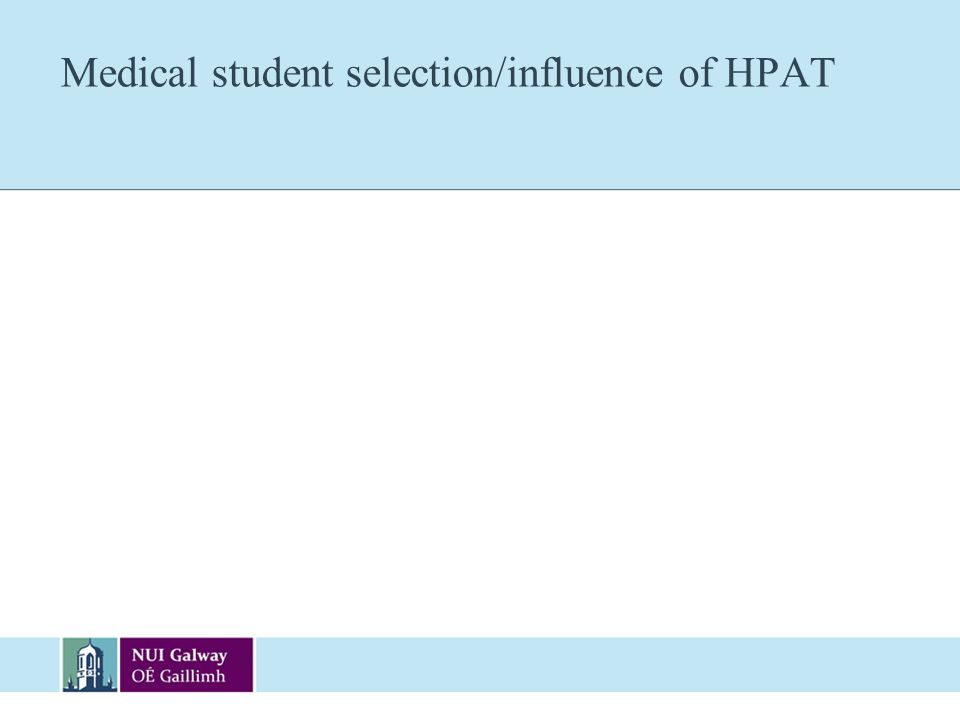 Medical student selection/influence of HPAT