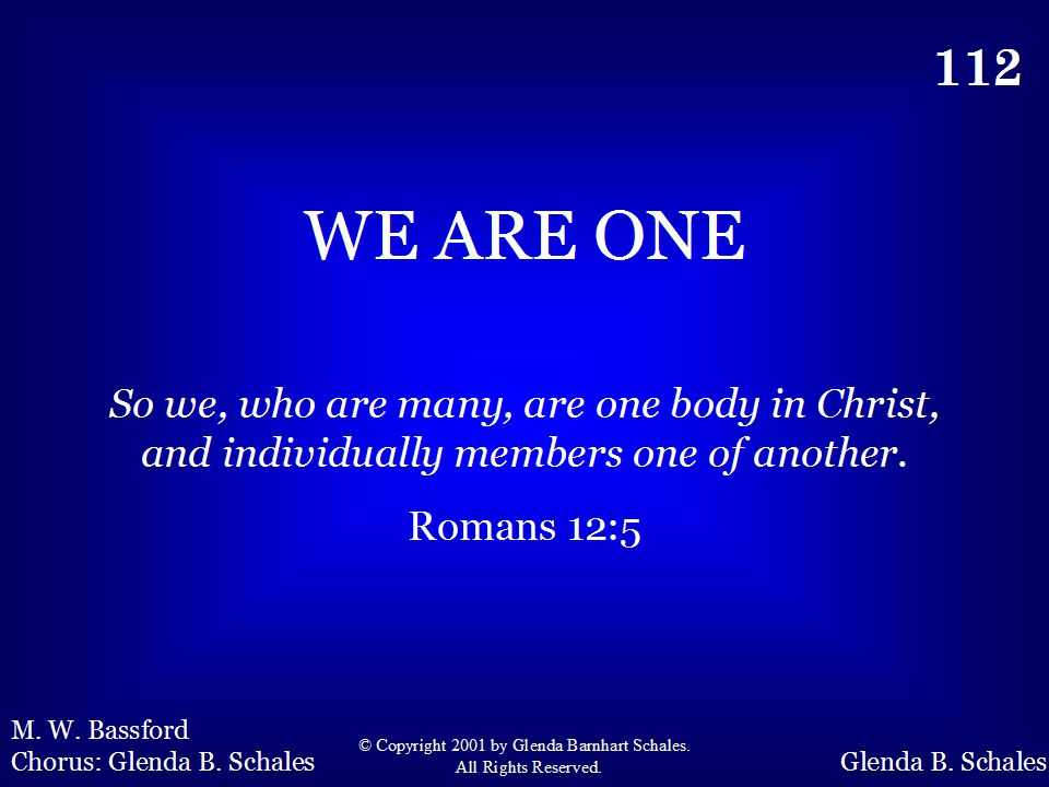 112 - We Are One - Title