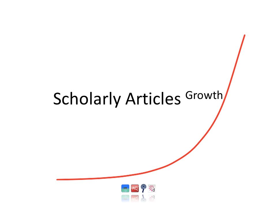 Scholarly Articles Growth