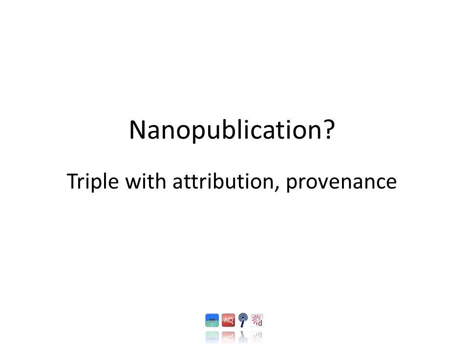 Nanopublication Triple with attribution, provenance