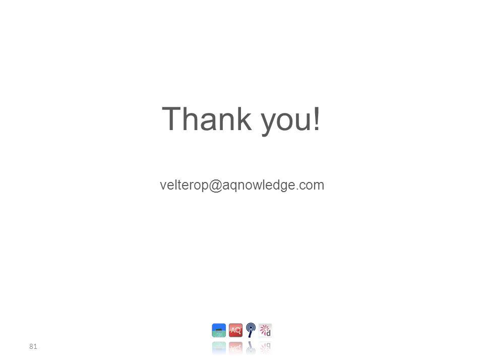 81 Thank you! velterop@aqnowledge.com