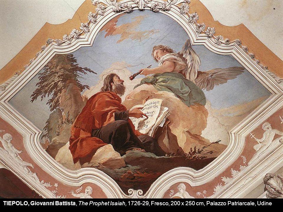 TIEPOLO, Giovanni Battista, The Prophet Isaiah, 1726-29, Fresco, 200 x 250 cm, Palazzo Patriarcale, Udine