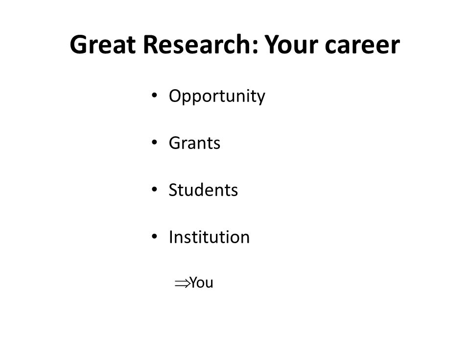 Great Research: Your career Opportunity Grants Students Institution  You