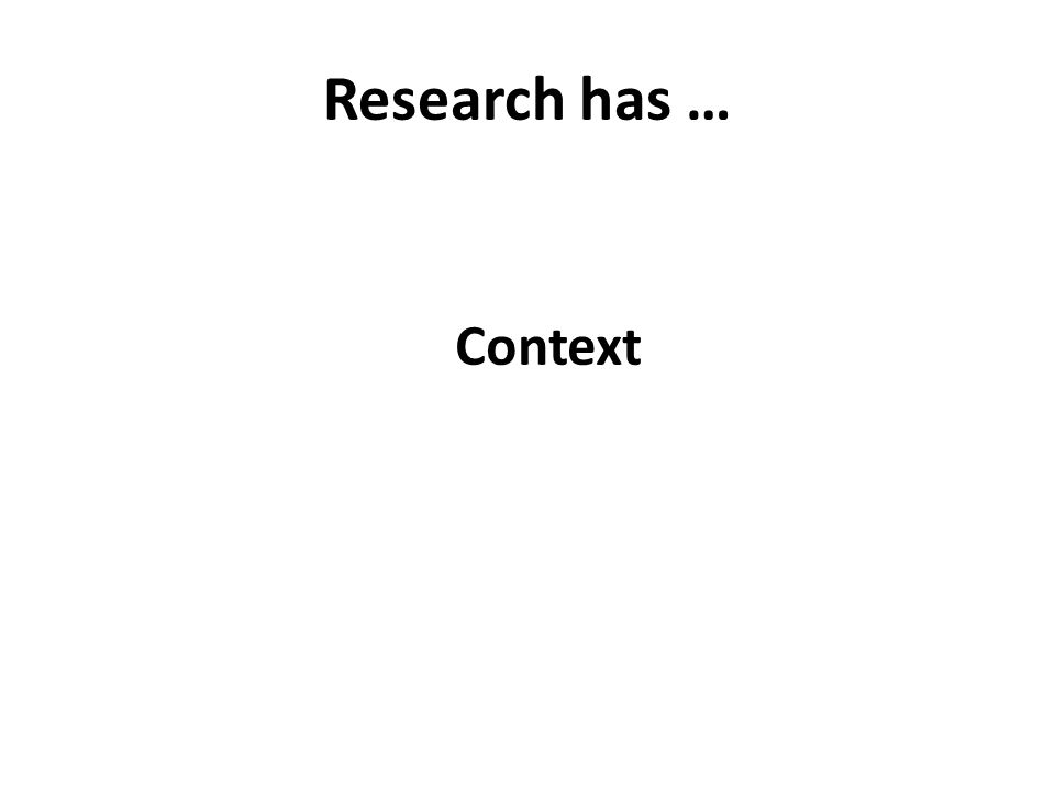 Research has … Context