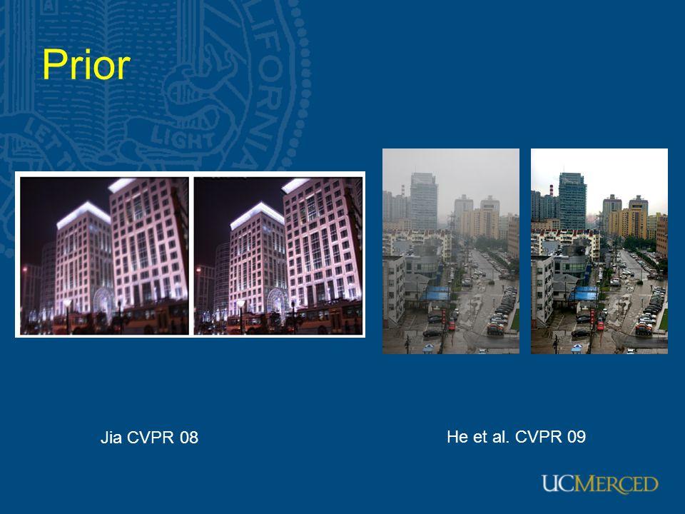 Prior He et al. CVPR 09 Jia CVPR 08