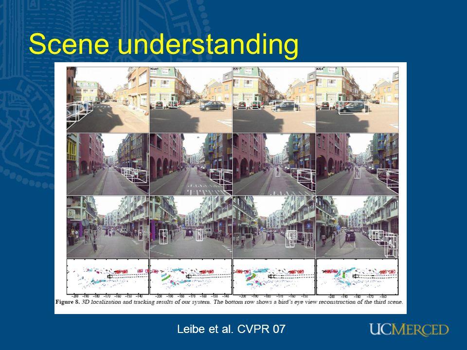 Scene understanding Leibe et al. CVPR 07