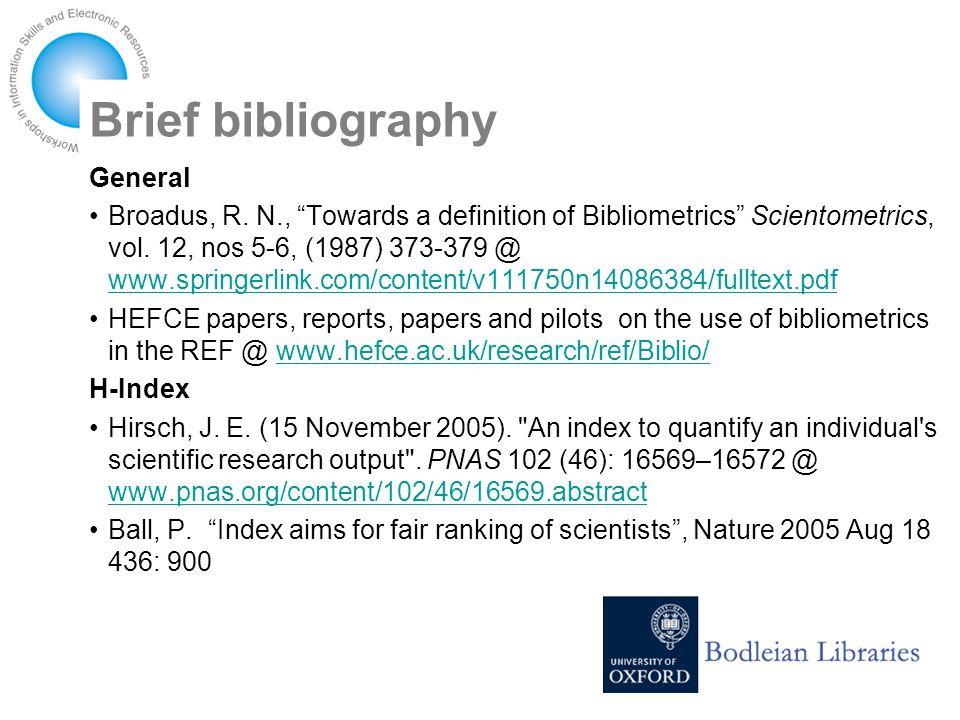 Brief bibliography General Broadus, R.